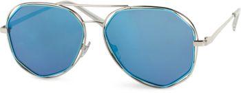 styleBREAKER Duochrome Effekt Sonnenbrille, Pilotenbrille mit eckigen Gläsern und Federscharnier, Unisex 09020068 – Bild 4