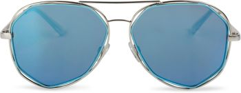 styleBREAKER Duochrome Effekt Sonnenbrille, Aviator Pilotenbrille mit eckigen Gläsern und Federscharnier, Unisex 09020068 – Bild 9