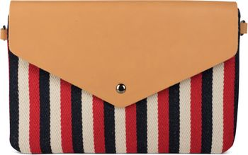 styleBREAKER Envelope Clutch im maritimen Streifen Look mit Fischgrät Muster, Umhängetasche, Tasche, Damen 02012153 – Bild 6