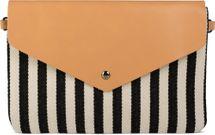 styleBREAKER Envelope Clutch im maritimen Streifen Look mit Fischgrät Muster, Umhängetasche, Tasche, Damen 02012153 – Bild 1