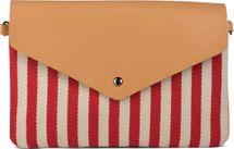 styleBREAKER Envelope Clutch im maritimen Streifen Look mit Fischgrät Muster, Umhängetasche, Tasche, Damen 02012153 – Bild 4