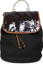 styleBREAKER Rucksack mit Pailletten besetztem Überschlag, Leinen Optik, Tasche, Damen 02012155 – Bild 3