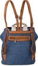 styleBREAKER Rucksack mit Pailletten besetztem Überschlag, Leinen Optik, Tasche, Damen 02012155 – Bild 9