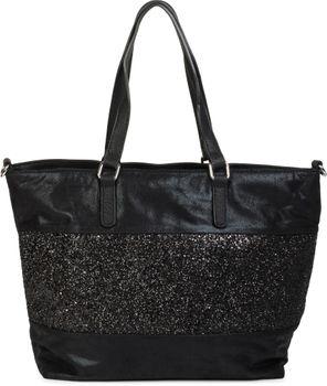 styleBREAKER edle Schultertasche Handtasche mit Pailletten Streifen und Metallic Optik, Shopper, Tasche, Damen 02012156 – Bild 6