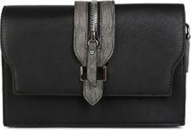 styleBREAKER Clutch Umhängetasche mit abgesetzter Schnalle und Reißverschluss Applikation am Deckel, Handtasche, Tasche, Damen 02012157 – Bild 5