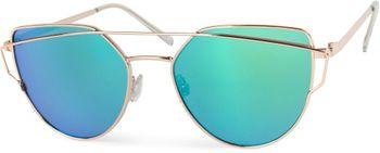 styleBREAKER Sonnenbrille mit Katzenaugen Cat Eye Gläsern und Doppelrahmen Bügel, Federscharnier, Damen 09020069 – Bild 4