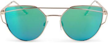 styleBREAKER Sonnenbrille mit Katzenaugen Cat Eye Gläsern und Doppelrahmen Bügel, Federscharnier, Damen 09020069 – Bild 8