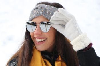 styleBREAKER Sonnenbrille mit Katzenaugen Cat Eye Gläsern und Doppelrahmen Bügel, Federscharnier, Damen 09020069 – Bild 14