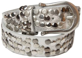 styleBREAKER Nieten Gürtel im Vintage Style, Nietengürtel kürzbar, Damen 03010008 – Bild 25
