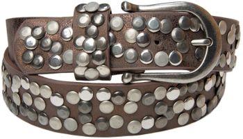 styleBREAKER Nieten Gürtel im Vintage Style, Nietengürtel kürzbar, Damen 03010008 – Bild 18