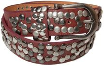 styleBREAKER Nieten Gürtel im Vintage Style, Nietengürtel kürzbar, Damen 03010008 – Bild 26