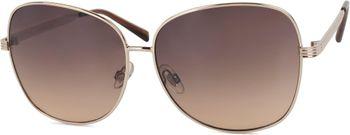 styleBREAKER Sonnenbrille mit ovalen Polycarbonat Gläsern und Vollrand Metallgestell, Damen 09020070 – Bild 1