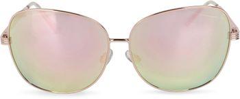 styleBREAKER Sonnenbrille mit ovalen Polycarbonat Gläsern und Vollrand Metallgestell, Damen 09020070 – Bild 6