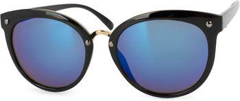 styleBREAKER Sonnenbrille mit Material-Mix-Rahmen in Katzenaugen Cat Eye Form und Nieten, Damen 09020071 – Bild 4