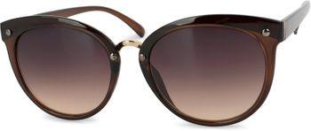 styleBREAKER Sonnenbrille mit Material-Mix-Rahmen in Katzenaugen Cat Eye Form und Nieten, Damen 09020071 – Bild 5