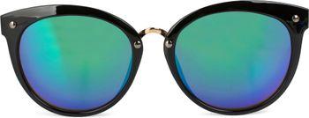 styleBREAKER Sonnenbrille mit Material-Mix-Rahmen in Katzenaugen Cat Eye Form und Nieten, Damen 09020071 – Bild 2