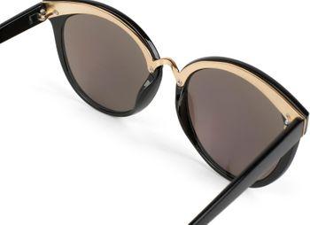 styleBREAKER Sonnenbrille mit Material-Mix-Rahmen in Katzenaugen Cat Eye Form und Nieten, Damen 09020071 – Bild 8