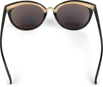 styleBREAKER Sonnenbrille mit Material-Mix-Rahmen in Katzenaugen Cat Eye Form und Nieten, Damen 09020071 – Bild 9