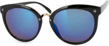 styleBREAKER Sonnenbrille mit Material-Mix-Rahmen in Katzenaugen Cat Eye Form und Nieten, Damen 09020071 – Bild 3