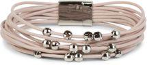 styleBREAKER weiches Armband mit schmalen Bändern und Schmuck Perlen, Magnetverschluss, Damen 05040096 – Bild 3