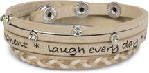 styleBREAKER Wickelarmband mit Strasselement, Schriftzug und filigranem Flechtelement, Armband, Damen 05040097 – Bild 6