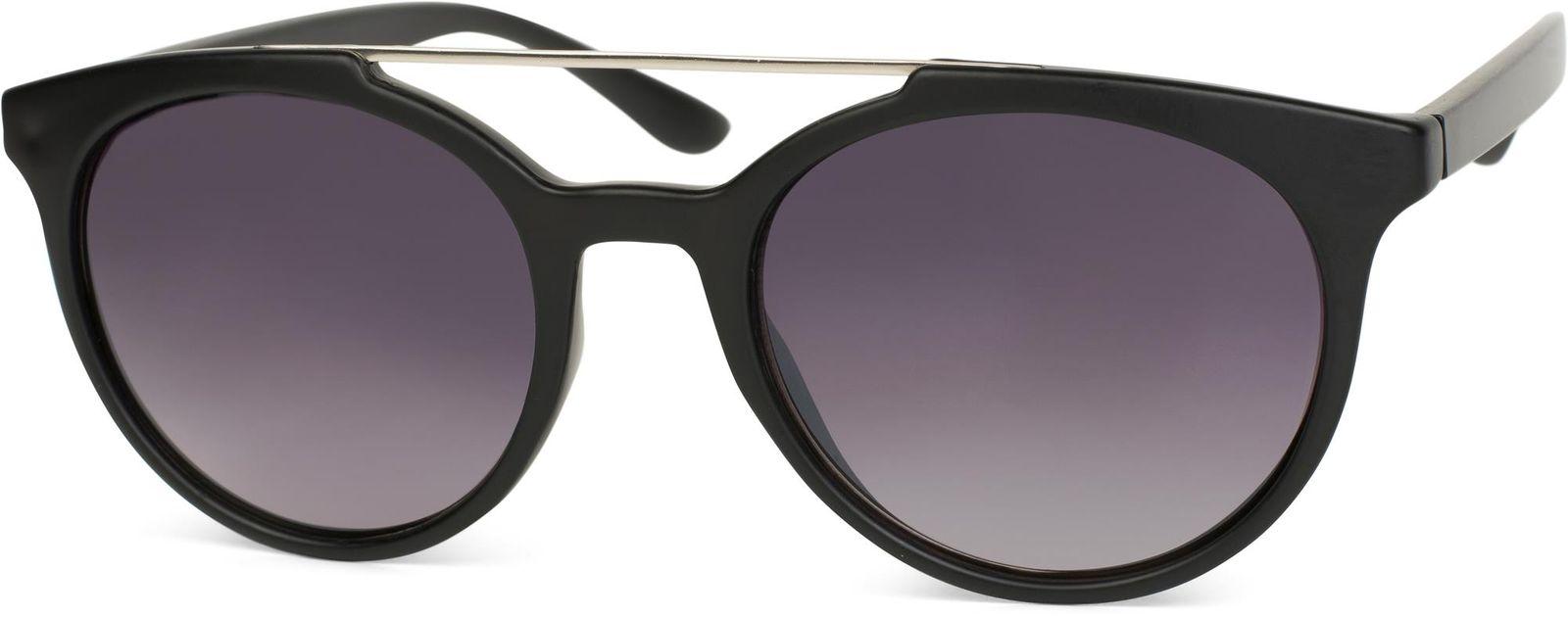 Sonnenbrille, runde Gläser, kontrastfarbener Nasen- und Verbindungssteg, Damen