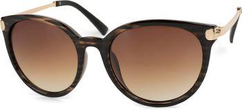 styleBREAKER Sonnenbrille mit Katzenaugen Cat Eye Gläsern und Metall Bügel, runde Glasform, Damen 09020073 – Bild 1