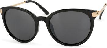 styleBREAKER Sonnenbrille mit Katzenaugen Cat Eye Gläsern und Metall Bügel, runde Glasform, Damen 09020073 – Bild 5