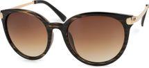 styleBREAKER Sonnenbrille mit Katzenaugen Cat Eye Gläsern und Metall Bügel, runde Glasform, Damen 09020073 – Bild 6