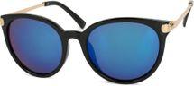 styleBREAKER Sonnenbrille mit Katzenaugen Cat Eye Gläsern und Metall Bügel, runde Glasform, Damen 09020073 – Bild 3