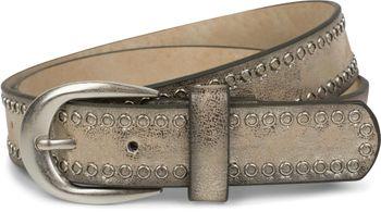 styleBREAKER Nietengürtel mit Lochnieten, Vintage Nieten Gürtel, kürzbar, Unisex 03010080 – Bild 2