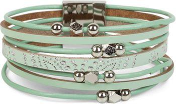 styleBREAKER Armband mit Ornament Muster, Schmuck Perlen und Bändern, Magnetverschluss, Armschmuck, Damen 05040098 – Bild 4