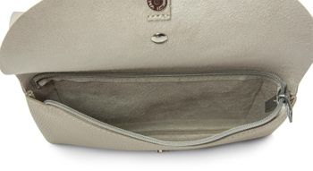 styleBREAKER Envelope Clutch, Abendtasche mit doppeltem Umschlag, Metallelement Verschluss, Schulterriemen und Trageschlaufe, Tasche, Damen 02012159 – Bild 7