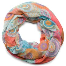 styleBREAKER ethno design loop tube scarf with colorful circles and dots 01016012 – Bild 17