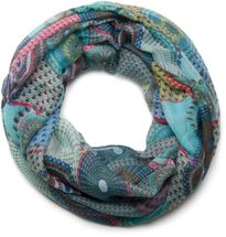 styleBREAKER ethno design loop tube scarf with colorful circles and dots 01016012 – Bild 25