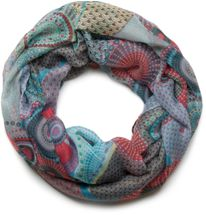 styleBREAKER ethno design loop tube scarf with colorful circles and dots 01016012 – Bild 27