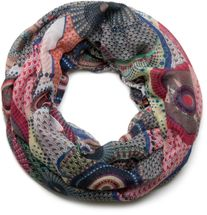 styleBREAKER ethno design loop tube scarf with colorful circles and dots 01016012 – Bild 19