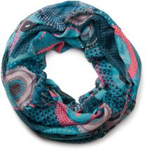 styleBREAKER ethno design loop tube scarf with colorful circles and dots 01016012 – Bild 56