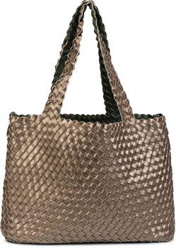 styleBREAKER XXL Wendetasche in Flecht-Optik, Shopper Tasche, Handtaschen Set, 2 Taschen, Bag in Bag, Schultertasche, Damen 02012163 – Bild 75