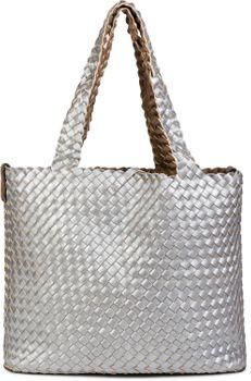 styleBREAKER XXL Wendetasche in Flecht-Optik, Shopper Tasche, Handtaschen Set, 2 Taschen, Bag in Bag, Schultertasche, Damen 02012163 – Bild 60