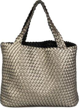 styleBREAKER XXL Wendetasche in Flecht-Optik, Shopper Tasche, Handtaschen Set, 2 Taschen, Bag in Bag, Schultertasche, Damen 02012163 – Bild 5