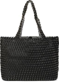 styleBREAKER XXL Wendetasche in Flecht-Optik, Shopper Tasche, Handtaschen Set, 2 Taschen, Bag in Bag, Schultertasche, Damen 02012163 – Bild 49