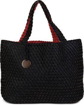 styleBREAKER XXL Wendetasche in Flecht-Optik, Shopper Tasche, Handtaschen Set, 2 Taschen, Bag in Bag, Schultertasche, Damen 02012163 – Bild 26