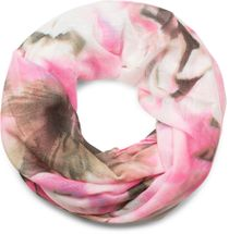 styleBREAKER Loop Schlauchschal mit Aquarell Blumen Print, Schal, Tuch, Damen 01016133 – Bild 1