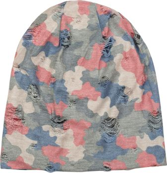 styleBREAKER Beanie Mütze mit Camouflage Muster im Destroyed Vintage used Look, Slouch Longbeanie, Unisex 04024102 – Bild 18