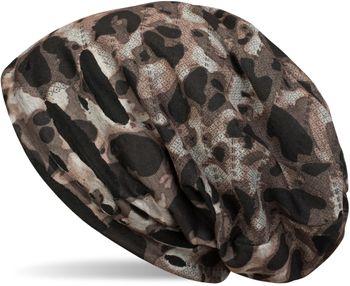 styleBREAKER Beanie Mütze mit Camouflage Muster im Destroyed Vintage used Look, Slouch Longbeanie, Unisex 04024102 – Bild 2