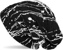 styleBREAKER Vintage Beanie Mütze im Destroyed used Look, Splat Style, Kleckse, Striche, kleine Löcher und Falten, Slouch Longbeanie, Unisex 04024104 – Bild 4