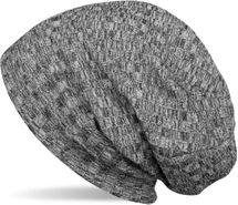 styleBREAKER warme Feinstrick Beanie Mütze mit Streifen Strick Muster und sehr weichem Fleece Innenfutter, Slouch Longbeanie, Unisex 04024108 – Bild 1