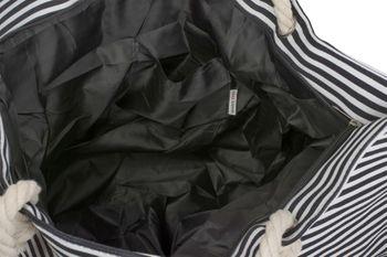 styleBREAKER Strandtasche XXL in Streifen Optik mit Stern Print und Reißverschluss, Shopper, Badetasche, Damen 02012165 – Bild 10