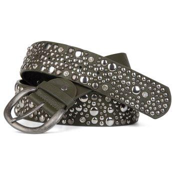 styleBREAKER studded belt in vintage style, wide women's belt with studs and rhinestones, shortened 03010020 – Bild 10